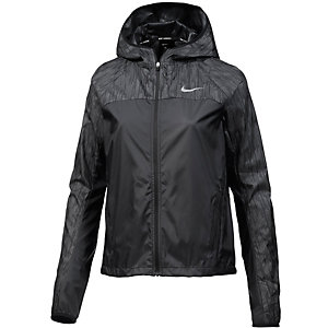 Nike Shield Flash Hooded Racer Laufjacke Damen schwarz