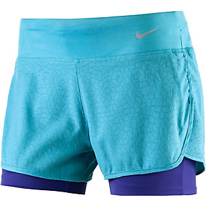 Nike Rival Laufshorts Damen türkis/dunkelblau