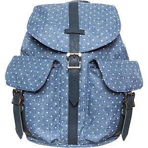 Herschel Dawson Daypack Damen blau / weiß