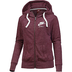 nike gym vintage sweatjacke damen bordeaux im online shop. Black Bedroom Furniture Sets. Home Design Ideas