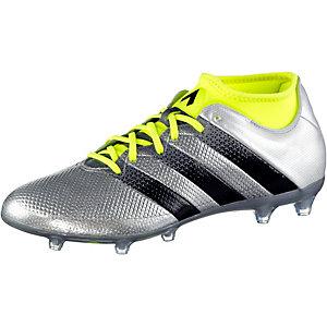 adidas ACE 16.2 PRIMEMESH FG Fußballschuhe Herren silber/gelb