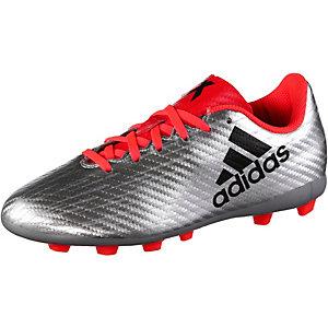 adidas X 16.4 FxG J Fußballschuhe Kinder silber/rot