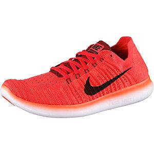 Nike Free Run Flyknit Laufschuhe Herren rot