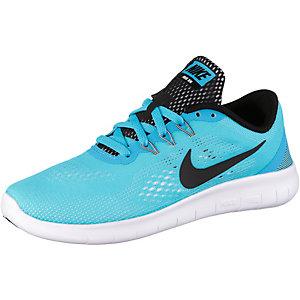 Nike FREE RN Laufschuhe Mädchen türkis/schwarz