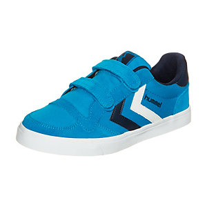 hummel Stadil Canvas Low Sneaker Kinder hellblau / weiß