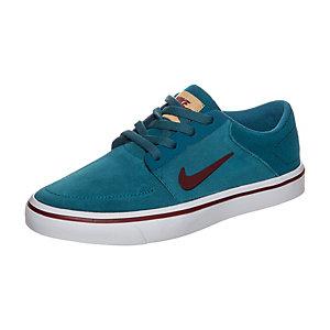 Nike Portmore Sneaker Kinder blau / dunkelrot