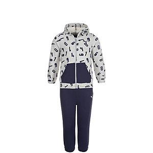 PUMA Style Minicats Jogger Trainingsanzug Kinder grau / dunkelblau