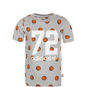 adidas I BBall T-Shirt Kinder grau / bunt