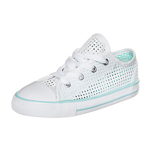 CONVERSE Chuck Taylor All Star Double Tongue Sneaker Kinder weiß / türkis