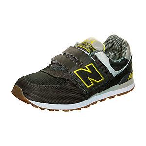 NEW BALANCE KV574-E8Y-M Sneaker Kinder oliv / gelb / grau