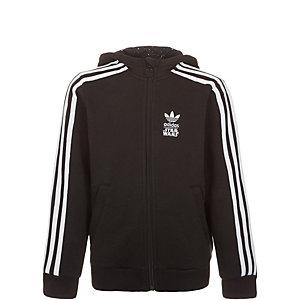 adidas Sweatjacke Kinder schwarz / weiß
