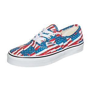 Vans Authentic Free Flag Sneaker Kinder rot / blau / weiß