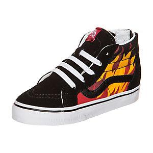 Vans Sk8-Hi Zip Flame Sneaker Kinder schwarz / bunt