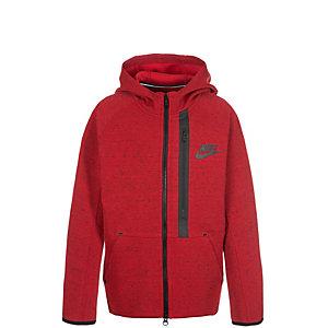 Nike Tech Fleece Sweatjacke Kinder rot / schwarz