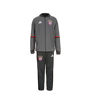 adidas FC Bayern München Trainingsanzug Kinder grau / schwarz / rot