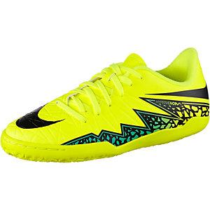 Nike HYPERVENOM PHELON II IC Fußballschuhe Kinder gelb/schwarz/türkis