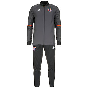 adidas FC Bayern München Trainingsanzug Herren grau / neonrot