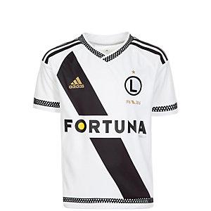adidas KP Legia Warschau Heim Fußballtrikot Kinder weiß / schwarz