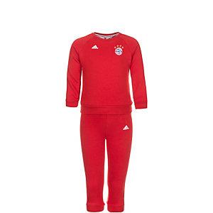 adidas FC Bayern München 3 Stripes Trainingsanzug Kinder rot / weiß