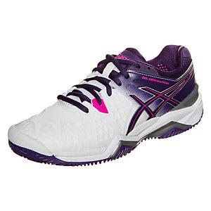 ASICS Gel-Resolution 6 Clay Tennisschuhe Damen weiß / lila / pink