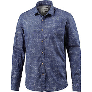 TOM TAILOR Langarmhemd Herren blau