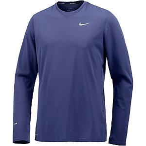 Nike Dri-Fit Contour Laufshirt Herren graublau