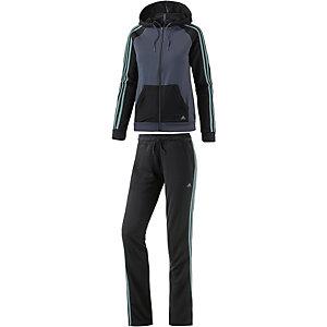 adidas Trainingsanzug Damen schwarz/grau