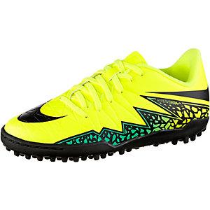 Nike HYPERVENOM PHELON II TF Fußballschuhe Kinder gelb/schwarz/türkis