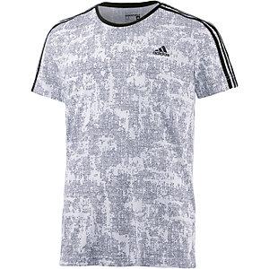 adidas Essential 3S Funktionsshirt Herren weiß/grau