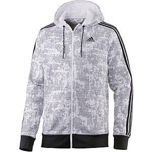 adidas Essential 3S Sweatjacke Herren weiß/grau