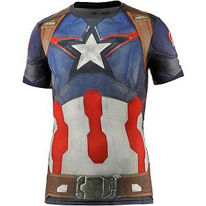 Under Armour Heat Gear Captain America Funktionsshirt Herren blau/schwarz