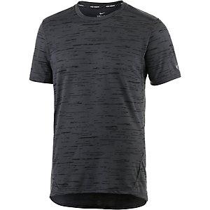Nike Dri-Fit Tailwind Laufshirt Herren schwarz