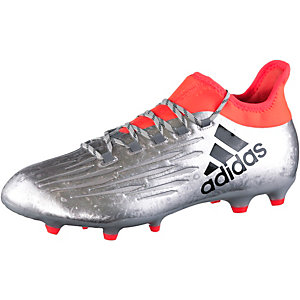 adidas X 16.2 FG Fußballschuhe Herren silber/rot