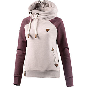 Naketano So ein Otto II Sweatshirt Damen beige/bordeaux melange