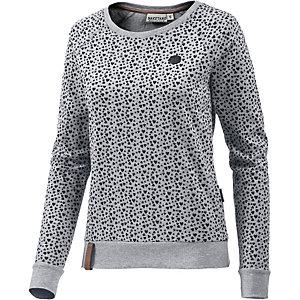 Naketano Pappen Ronny II Langarmshirt Damen grau/schwarz melange