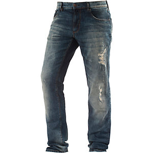 Shine Original Slim Fit Jeans Herren destroyed denim