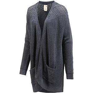 khujo strickjacke damen blau washed im online shop von sportscheck kaufen. Black Bedroom Furniture Sets. Home Design Ideas
