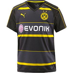 PUMA Borussia Dortmund 16/17 Auswärts Fußballtrikot Kinder schwarz/gelb
