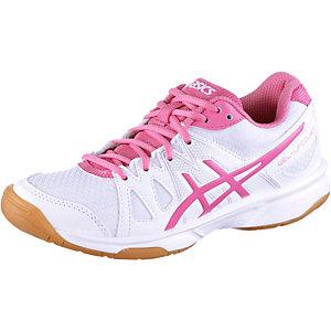 ASICS Gel Upcourt Hallenschuhe Kinder weiß/pink
