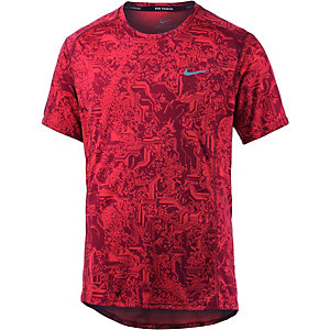 Nike Dri-Fit Miler Laufshirt Herren rot