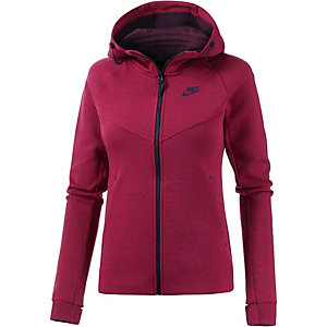 Nike Tech Fleece Kapuzenjacke Damen bordeaux