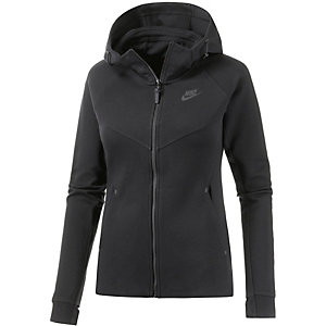 Nike Tech Fleece Kapuzenjacke Damen schwarz