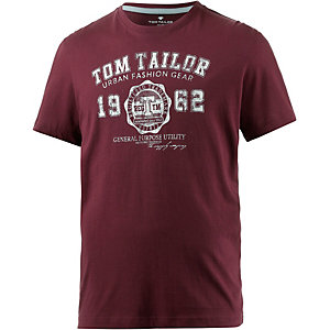 TOM TAILOR T-Shirt Herren bordeaux