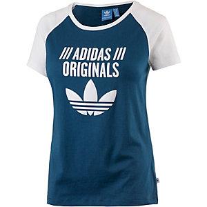 adidas Printshirt Damen blau/weiß