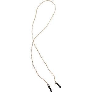 Croakies Sparkle cord Brillenband gold/weiß