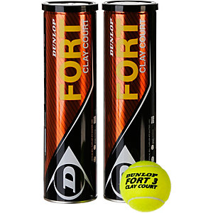 Dunlop Fort Clay Court Doppelpack Tennisball gelb