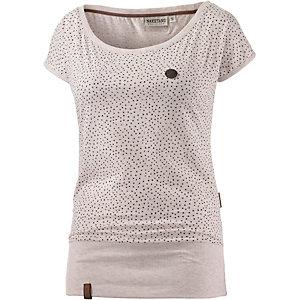 Naketano Dizzel Dizzel Dizzel III Printshirt Damen beige melange