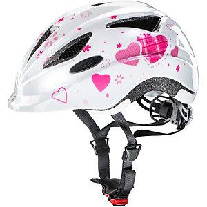 abus anuky fahrradhelm kinder wei rosa im online shop von. Black Bedroom Furniture Sets. Home Design Ideas