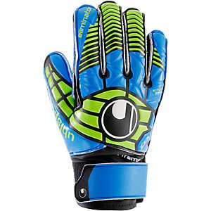 Uhlsport ELIMINATOR SOFT SF JUNIOR Torwarthandschuhe Kinder schwarz/blau/power grün