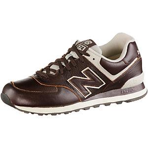NEW BALANCE ML 574 Premium Leather Sneaker Herren braun